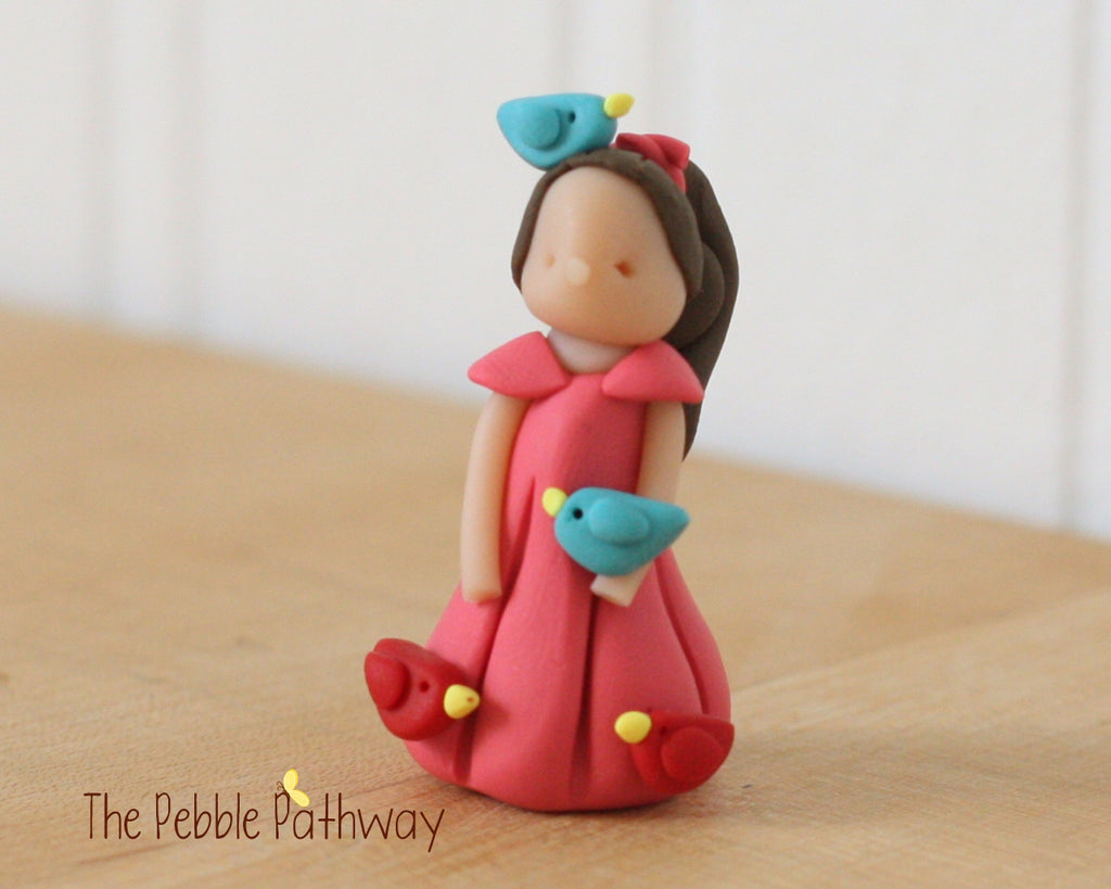 Career Fairy - Bird Lover Fairy brown hair - ThePebblePathway