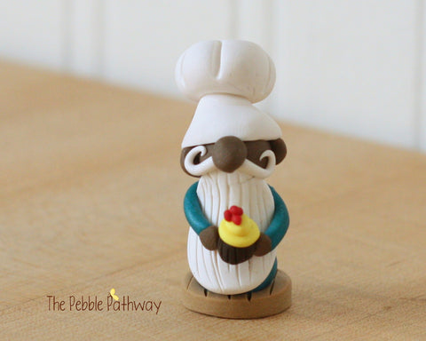 Career Gnome - Chef with Chocolate Cupcake Dark Brown Skin 0166