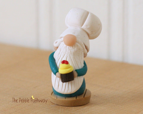 Career Gnome - Chef with Chocolate Cupcake 0163 - ThePebblePathway