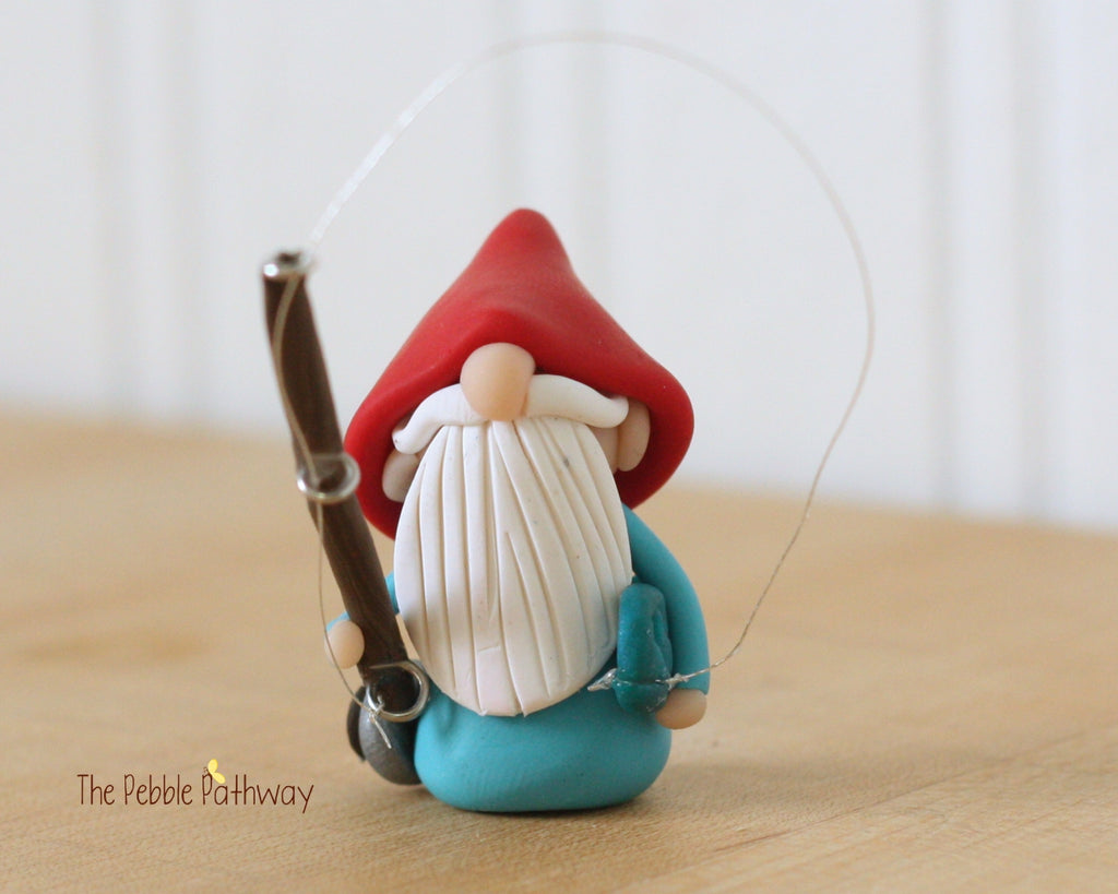 Career Gnome - Fisherman Gnome 0197 - ThePebblePathway