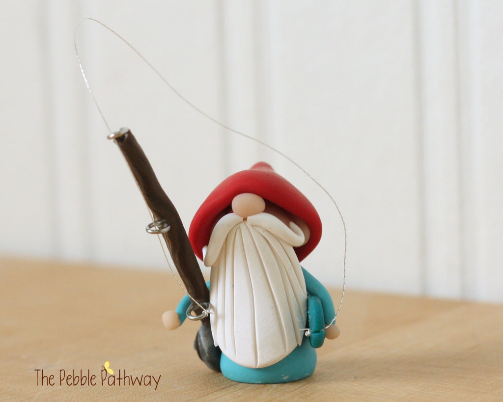 Career Gnome - Fisherman Gnome 0198 - ThePebblePathway