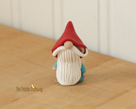 Gnome #1 - plant poke and fairy garden accessory