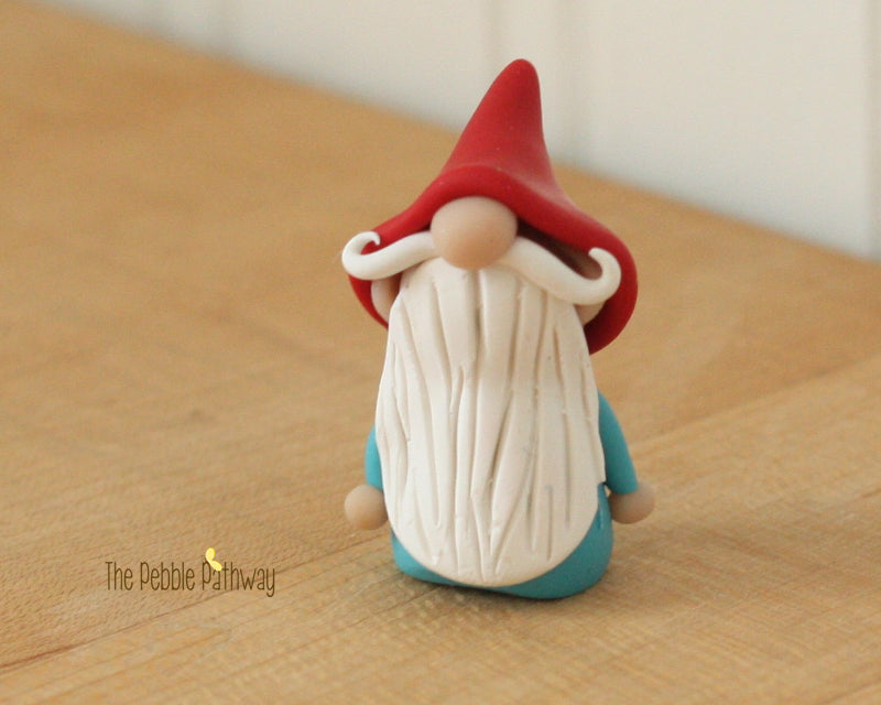 Gnome #2 - plant poke and fairy garden accessory - ThePebblePathway