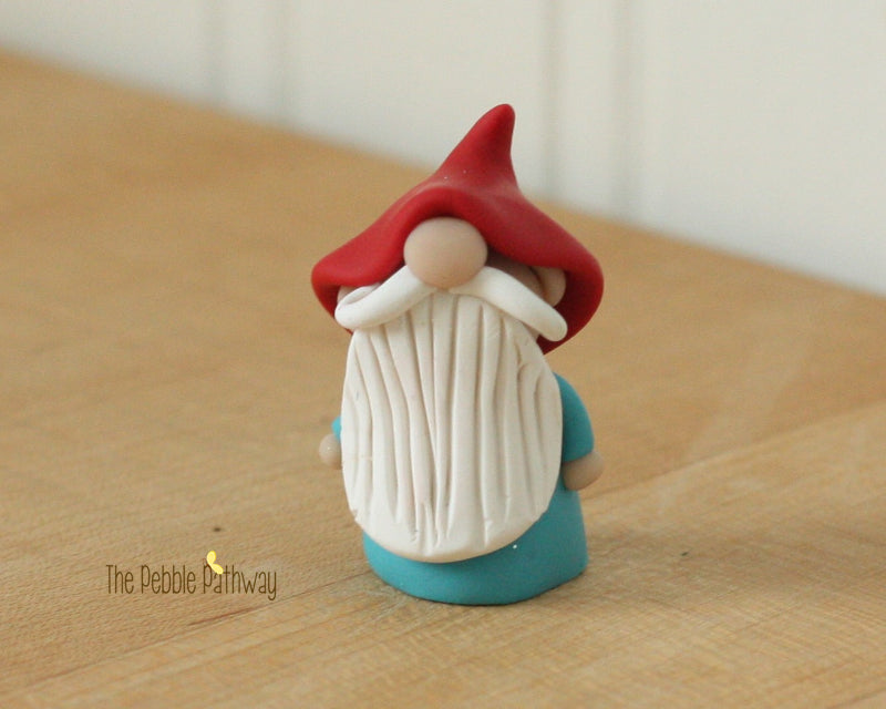 Gnome #4 - plant poke and fairy garden accessory - ThePebblePathway