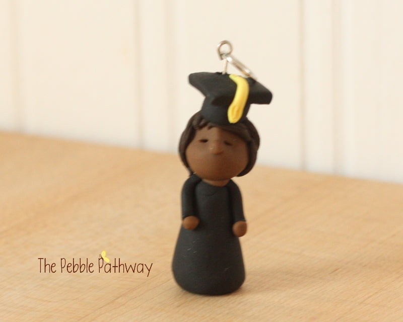 Career Fairy - Graduate Fairy Dark Skin Brown Hair - ThePebblePathway