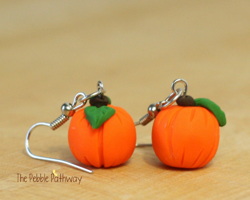 Pumpkin earrings 0130