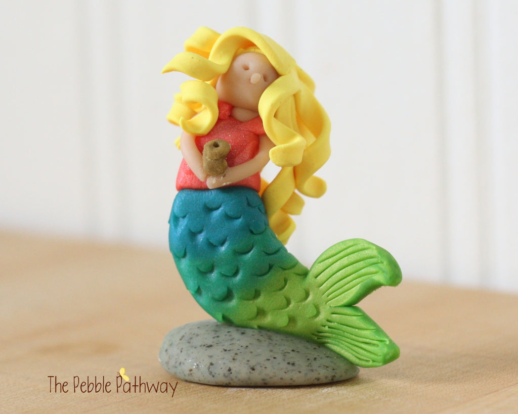 Mermaid Fairy Blonde Hair - ThePebblePathway