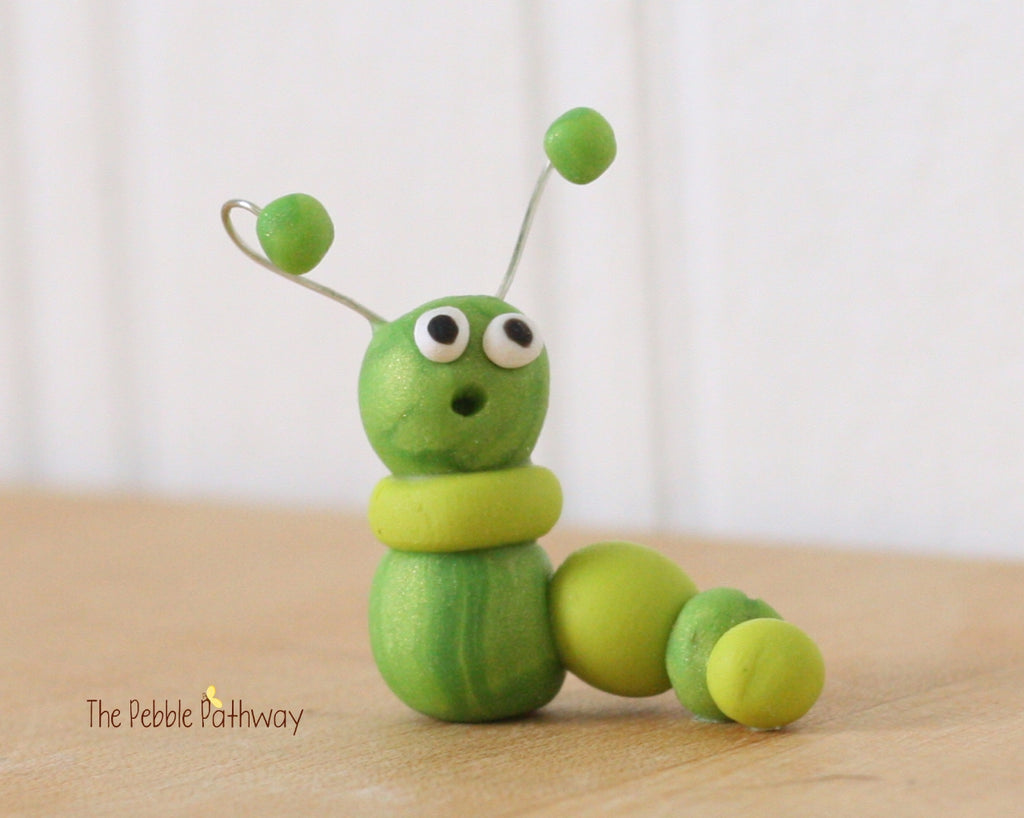 Fairy Garden Decorations - Miniature Caterpillar - Worm - terrarium accessory - ThePebblePathway