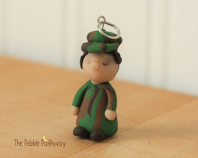 Soldier fairy - Career Gnomes and Fairies - military service Camouflage Ornament 0040 - ThePebblePathway