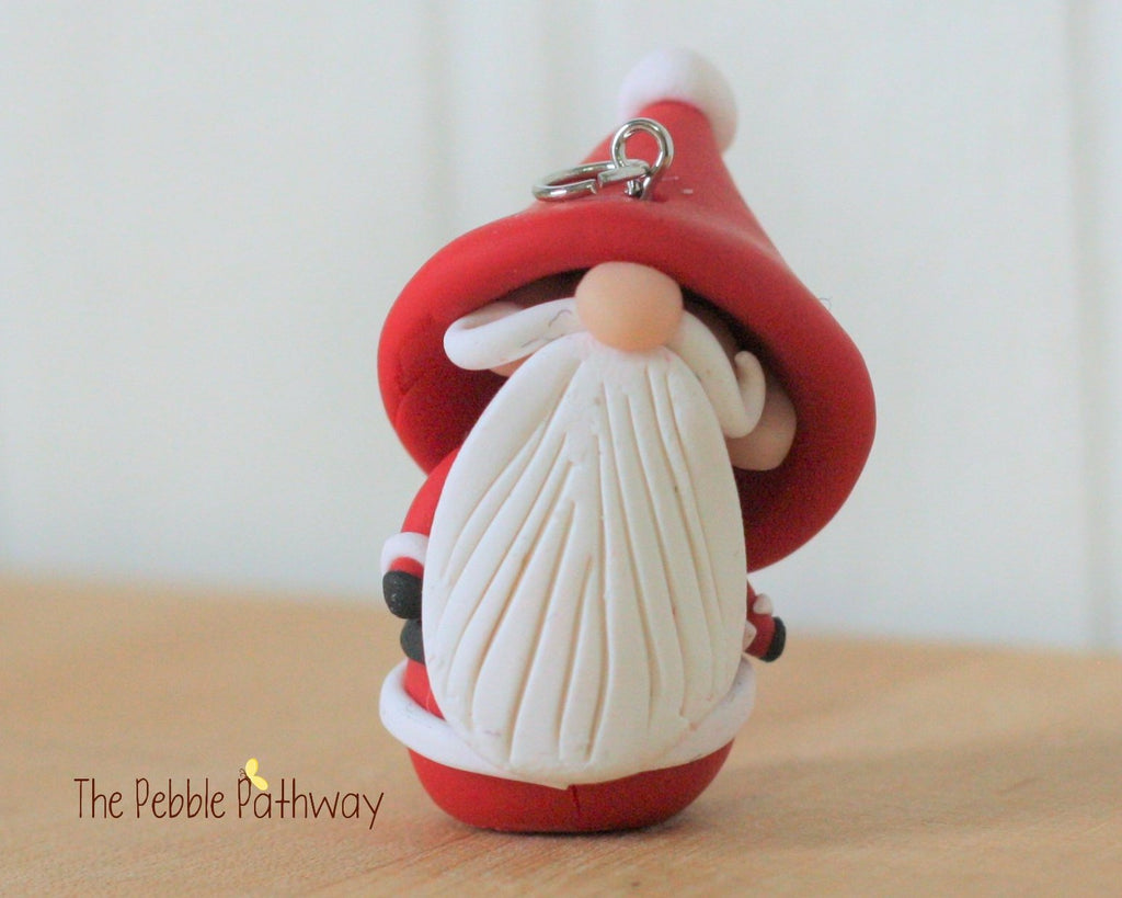 Santa Claus Gnome Christmas Ornament Miniature - ThePebblePathway