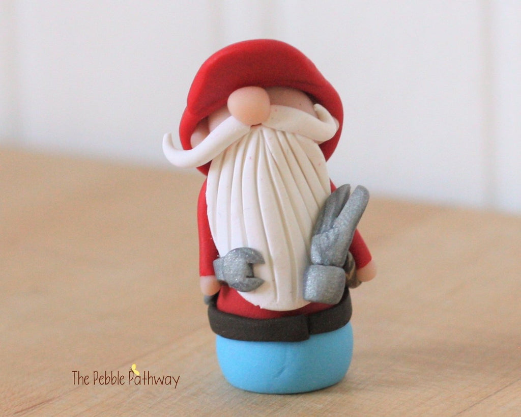 Handyman Gnome - Career Gnomes and Fairies - Working Gnome Plumber Mechanic 0224 - ThePebblePathway