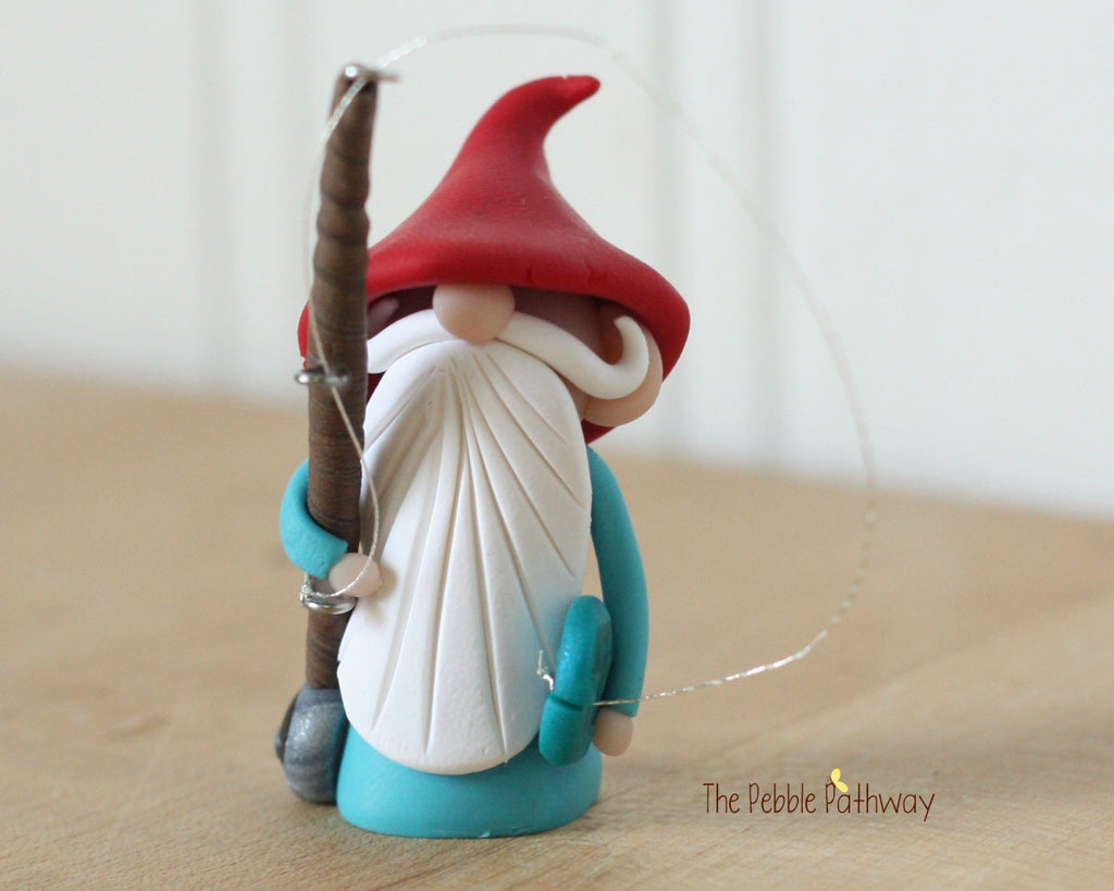 Fisherman Gnome Fishing Gnome - Career Gnomes and Fairies 0305 - ThePebblePathway