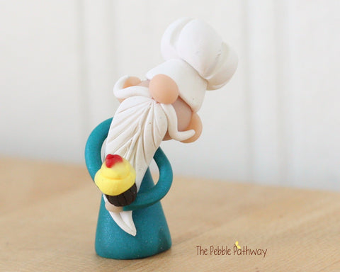 Chef Gnome - Career Gnomes and Fairies - Baker Cook Cupcake Ornament 0312