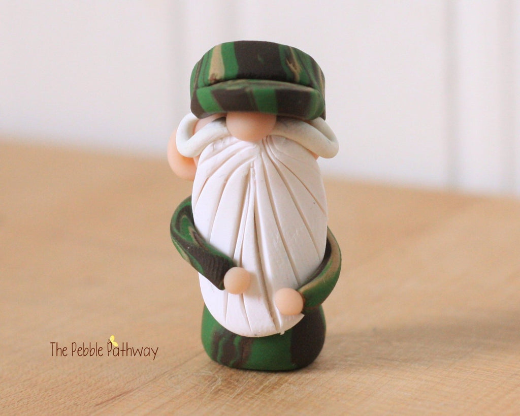 Soldier Gnome - Career Gnomes and Fairies - Hero Camouflage Gnome 0294 - ThePebblePathway