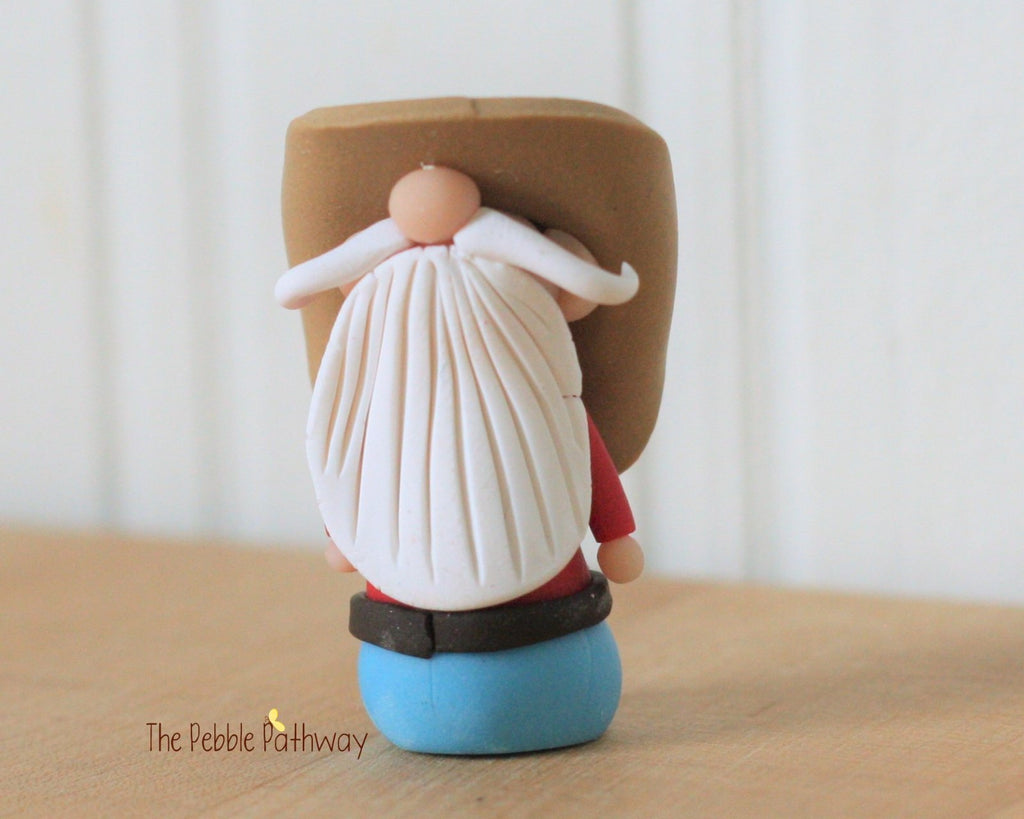 Cowboy or Farmer Gnome - Career Gnomes and Fairies - Working Gnome 0226 - ThePebblePathway
