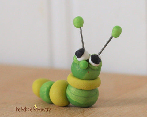 Caterpillar - Woodland Animals - Terrarium Accessory - Cupcake Topper 0211