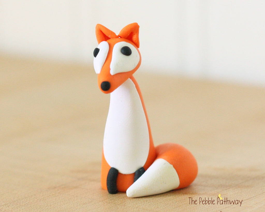 Fox - Woodland Animals - Terrarium Accessory - Cupcake Topper 0490 - ThePebblePathway