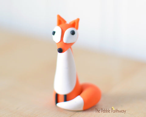 Fox - Woodland Animals - Terrarium Accessory - Cupcake Topper 0529 - ThePebblePathway