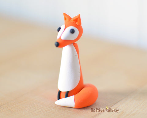 Fox - Woodland Animals - Terrarium Accessory - Cupcake Topper 0531 - ThePebblePathway