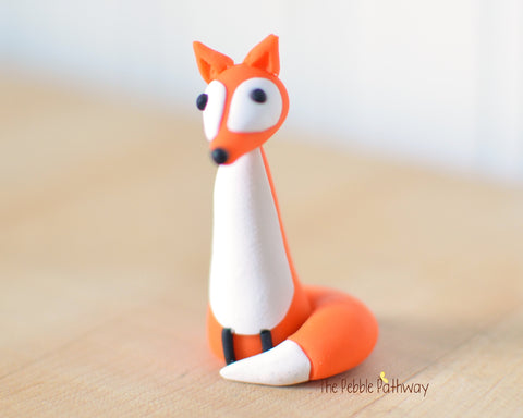 Fox - Woodland Animals - Terrarium Accessory - Cupcake Topper 0532 - ThePebblePathway