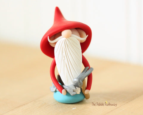 Handyman Gnome - Career Gnomes and Fairies - Working Gnome Plumber Mechanic 0538 - ThePebblePathway