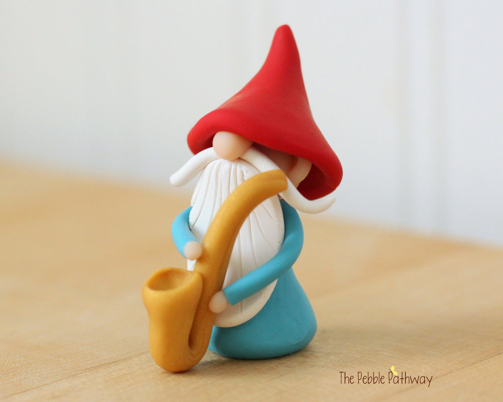 Jax the Saxophone Player - Career Gnomes and Fairies - Marching Band or Jazz Musician - ThePebblePathway