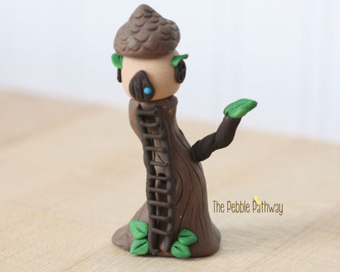 gnome-home-fairy-house-polymer-clay-miniature-acorn-tree-house-with-ladder