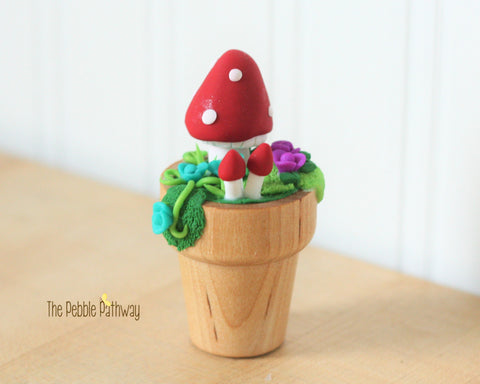 Fairy Garden Decorations - Flower Pot Mushrooms - Terrarium Accessories