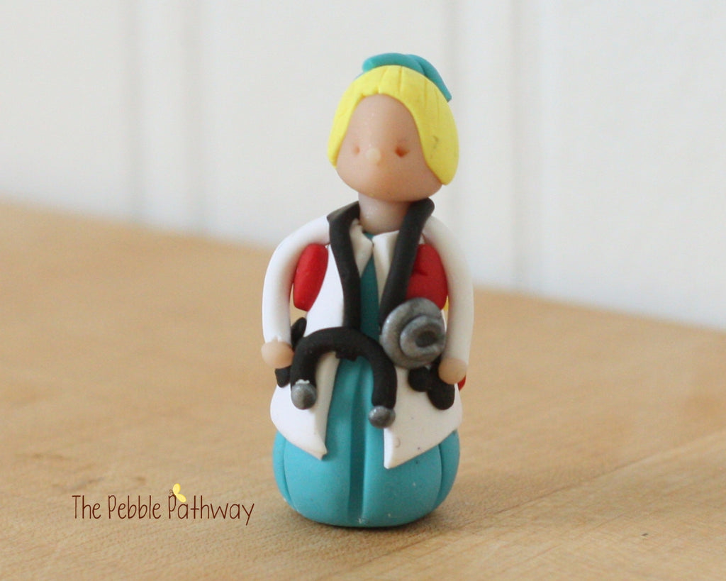Girl Veterinarian Fairy blonde hair - Gift for Veterinarian or Aspiring Veterinarian