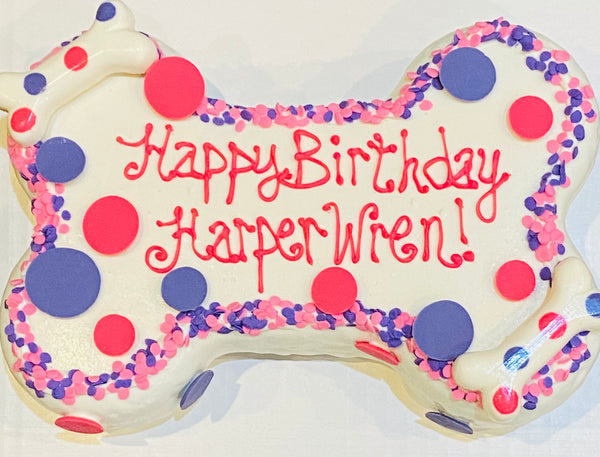 Bone Shaped Birthday Cake (Store Pickup Only)