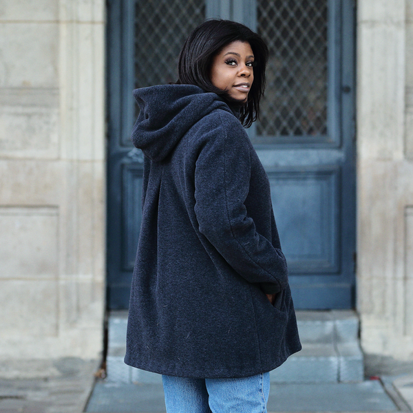 Manteau à capuche  ecoresponsable et made in France Cappa onyx