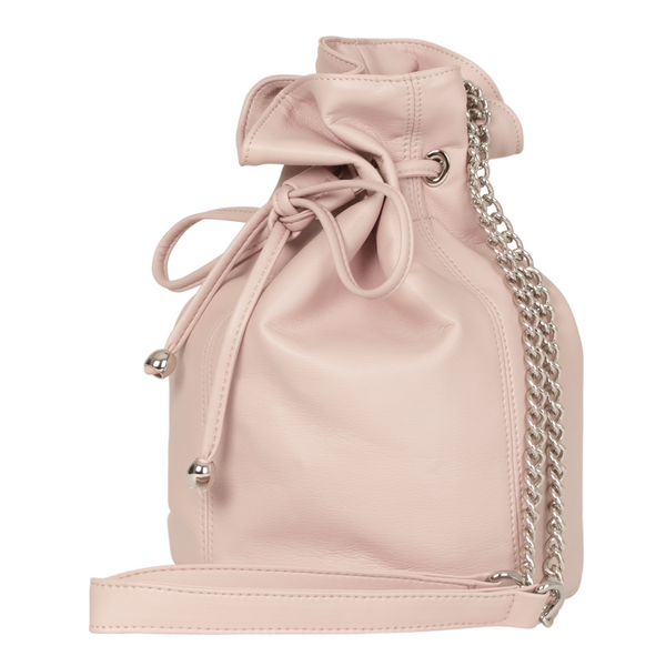 Sac bourse vegan écoresponsable made in France rose poudré Paris Happy