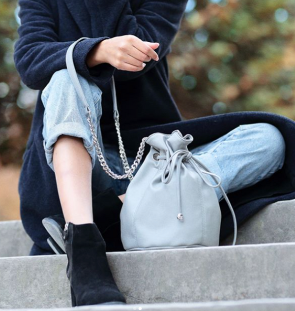 Sac bourse Paris Happy gris