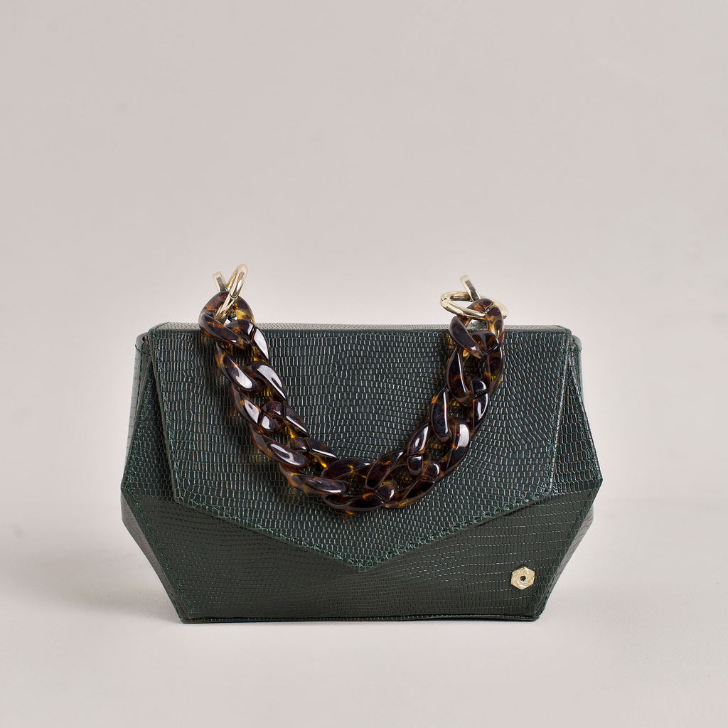 Hexella Clutch Forest Green
