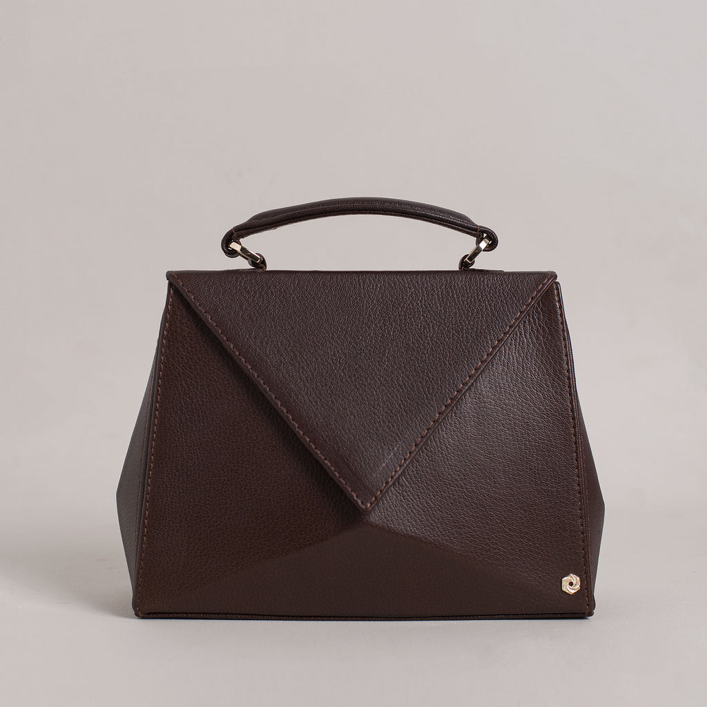Hexella Flap Small Walnut Brown