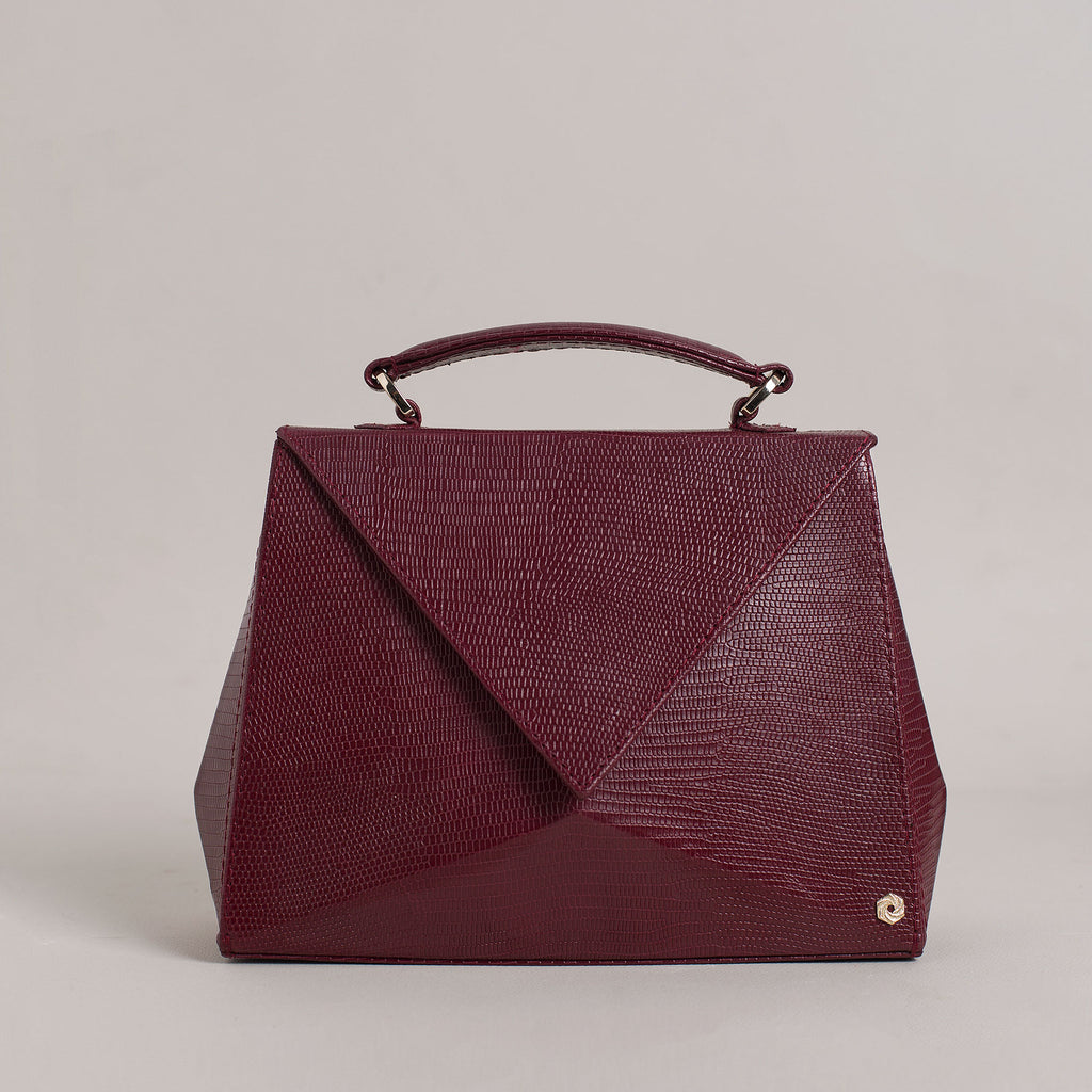 Hexella Flap Small Oxblood Lizard