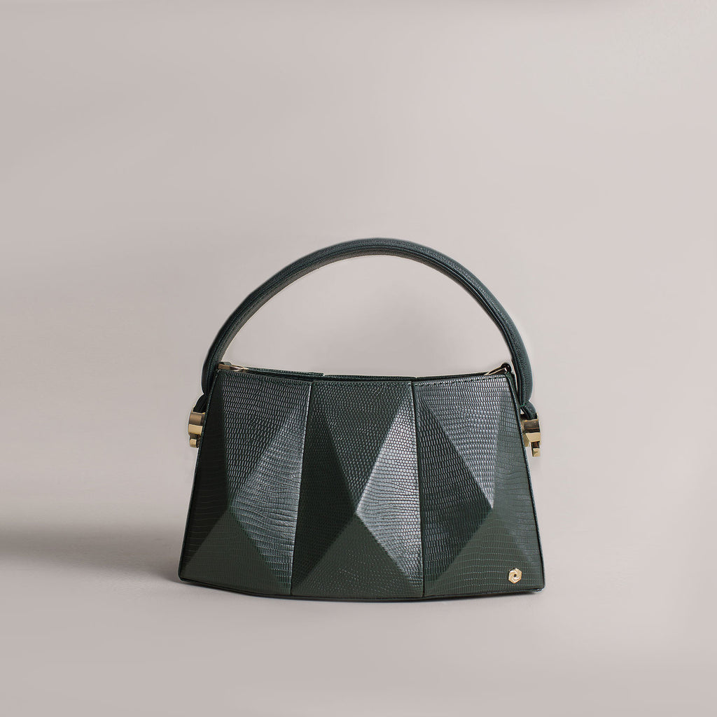 Hexella Minibag Forest Green Lizard