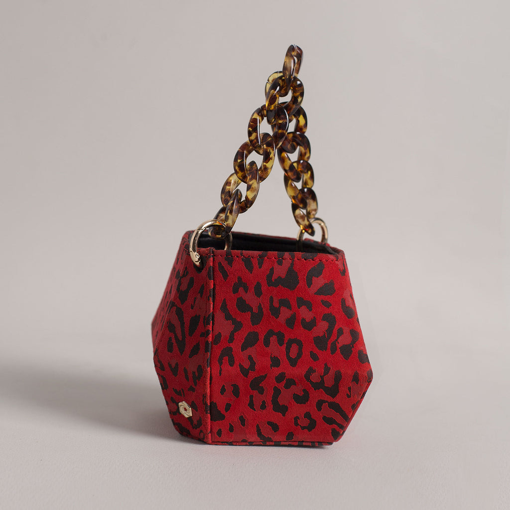 Hexella Micro Bucket Red Leopard