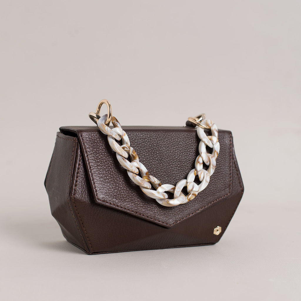 Hexella Clutch Walnut Brown