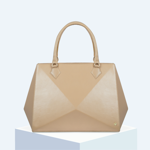 Almond Nude Large Tote Hexella
