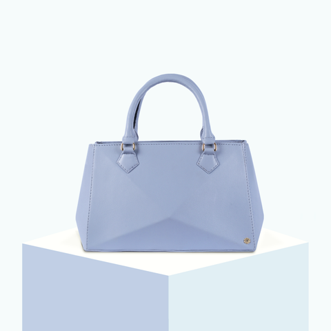 Hexella Midi Tote Powder Blue