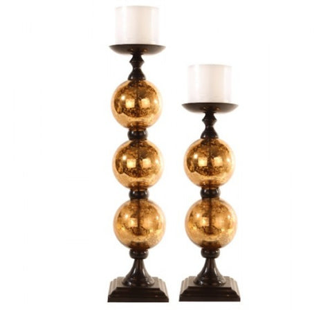080365d743158 Pillar Candle Holders with Gold Mercury Glass set of 2 – Summer Rain ...