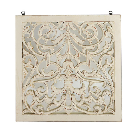 Fretwork Wall art - White Paisley – Summer Rain Store