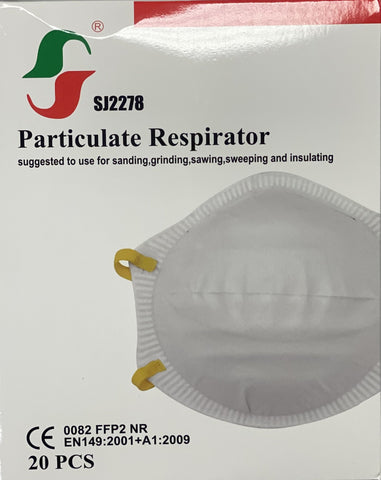 FFP2 NR Respirator with behind the head straps - Box of 20