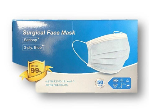 Level 3 Surgical Masks earloop  (Winner Medical Co.) -  FDA/ASTM Level 3 - 50 pack