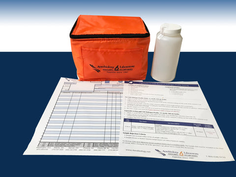 Legionella testing and CMS Pathogen Profile, (1) sterile 500 mL bottle