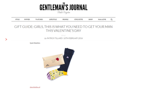 Valentine perfect gift socks Quiet Rebellion Gentleman's Journal