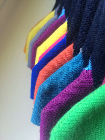 Colourful and reinforced heels for luxury work socks for the office