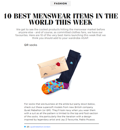"GQ's ""10 best menswear items in the world this week"""