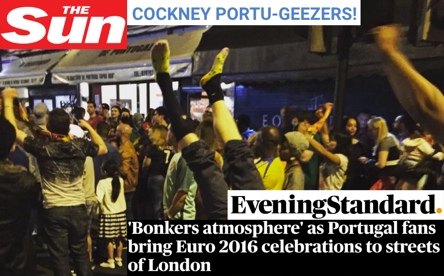 The Sun and Evening Standard catch Quiet Rebellion celebrating the World Cup